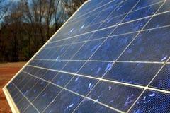 Pile solari immagini stock