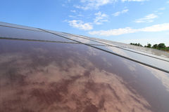Pile solari Fotografia Stock Libera da Diritti