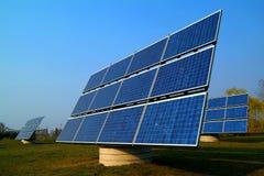 Pile solari Immagine Stock
