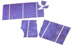 Pile solari rotte Fotografia Stock