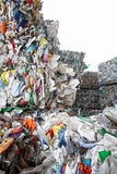 Pile of sorted plastic waste. Prepared for recycling. Waste disposal, collection, separation, management, treatment, reuse, recycle and recovery concept royalty free stock image