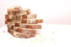 Pile of sourdough bread slices Stock Photography