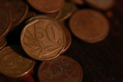 South African coin currency stock photos