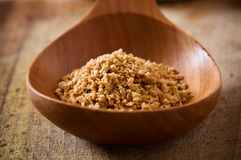 Pile of  soy granules in wooden spoon Stock Photography