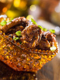 Pile of spicy chicken wings Royalty Free Stock Photos