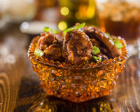 Pile of spicy chicken wings Stock Image