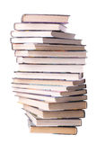 Pile spiralée de livres Photos stock
