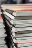 Pile of  spiral notebooks Royalty Free Stock Photo