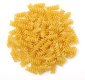 A pile of spiral pasta Stock Photo
