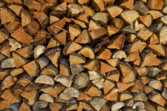 Pile of Split Fire Wood Royalty Free Stock Photos