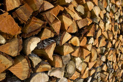 Pile of Split Fire Wood Royalty Free Stock Images