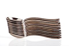 Pile of spoons Stock Images