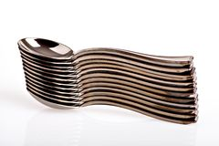 Pile of spoons Stock Photography