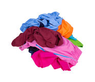 Pile of Sport shorts on a white Stock Image