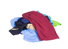 Pile of Sport shorts on a white Stock Photos