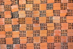 Pile of square bricks Stock Image
