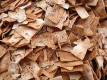 Pile of square and broken Pita Chips Royalty Free Stock Photo