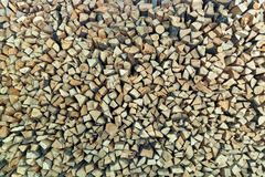 Pile of stacked firewood prepared for fireplace stock photo