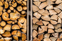 pile of stacked firewood Stock Images