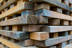Pile of Stacked Rough Cut Lumber Royalty Free Stock Photo
