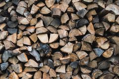 Pile of stacked wood royalty free stock image