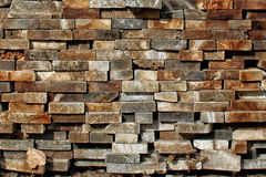 Pile of Stacked wooden boards Stock Photos