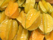 A pile of starfruit Royalty Free Stock Photography