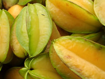 Pile of Starfruit on sell at farmers market Royalty Free Stock Photos