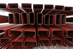 Pile of steel beam in building Royalty Free Stock Photography