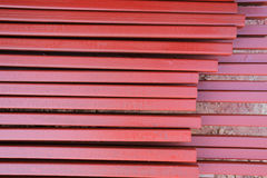 Pile of steel beam in building Royalty Free Stock Photo