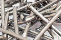 A pile of steel nail Stock Photo