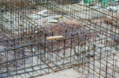 Pile of steel rods for construction Royalty Free Stock Image