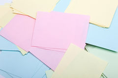 Pile of sticky notes. Background Royalty Free Stock Image