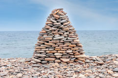 Pile of stone ashore. Pile of stones ashore of lake Royalty Free Stock Photography