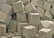 Pile of stone blocks Stock Photos