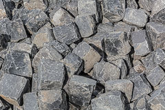 Pile of stone cubes Stock Photo