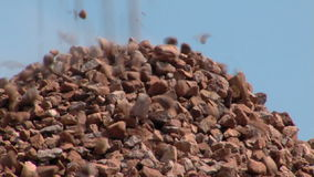 Pile of stone stock video footage