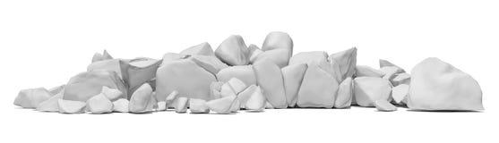 Pile of stone isolated on white background Stock Images