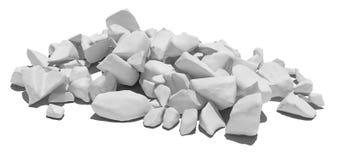 Pile of stone isolated on white background Royalty Free Stock Images