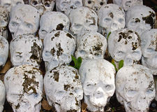 A pile of stone skulls background Royalty Free Stock Images