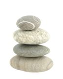 Pile stones. Revet pile four grey stones on white isolated Stock Image