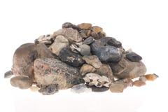 Pile of stones. On white background Royalty Free Stock Photos