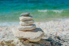 Pile of stones- abstract natural landscape stock photography