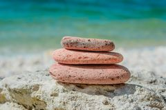 Pile of stones- abstract natural landscape stock photos