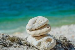 Pile of stones- abstract natural landscape stock images