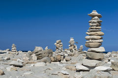 Pile of stones in beach Royalty Free Stock Image