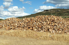 Pile of stones for construction Stock Photos
