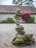 Pile of stones in a garden Stock Image