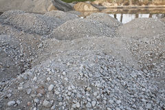 Pile Stones on a ground Royalty Free Stock Images
