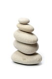 Pile of stones isolated on white background Royalty Free Stock Photos